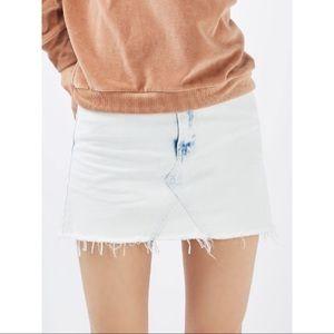 Topshop MOTO Extreme Bleach Denim Skirt